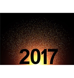 2017 new year shining background vector