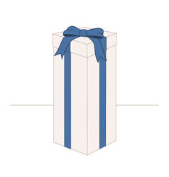 High rectangular gift box vector
