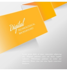 Folded orange paper vector image