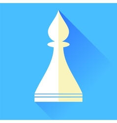 Bishop chess icon vector
