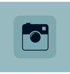 Pale blue square camera icon vector