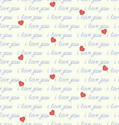 Inscription seamless i love you vector