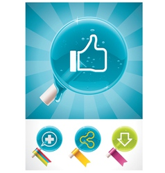 social media lollipops vector image