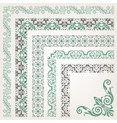 Decorative seamless islamic ornamental border vector