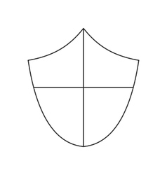 Ancient shield thin line icon vector