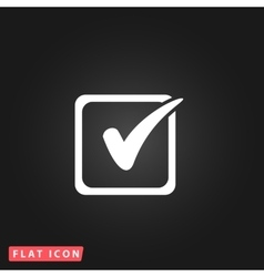 Check list button mark in box sign vector
