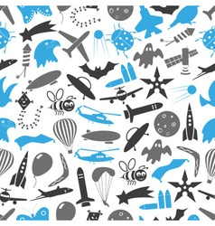 flying blue and gray theme theme symbols and icons vector image