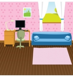Cartoon interior background vector