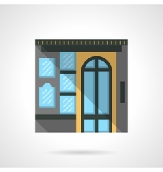 Box office facade flat color design icon vector