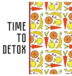 Food water and detox vector