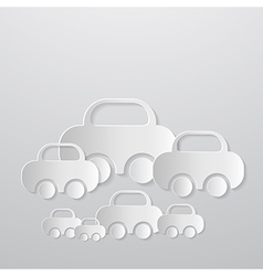 Abstract Cars Made From Paper vector image vector image