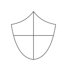 Ancient shield thin line icon vector