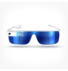 Augmented reality white glasses vector