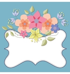 Background with flowers and banner vector