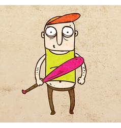Baseball player cartoon vector