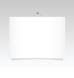 billboard on the wall vector image