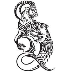 Capricorn zodiac tattoo vector