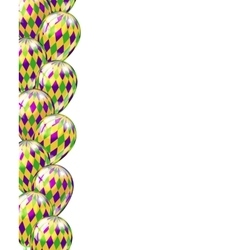 Carnival party or celebration seamless border with vector