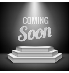 Coming soon concept background vector image
