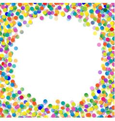Confetti frame vector