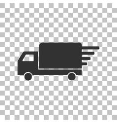 Delivery sign dark gray icon on vector