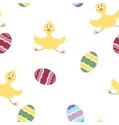 Easter chicken pattern vector