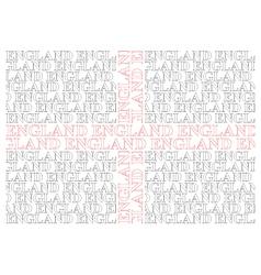 England Text Flag vector image vector image
