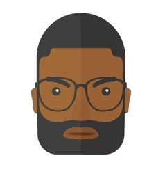 Face of angry black guy vector