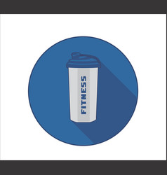 fittness lifestyle icon with sport bottle symbol vector image