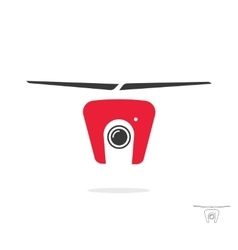 Flying camera drone icon vector image