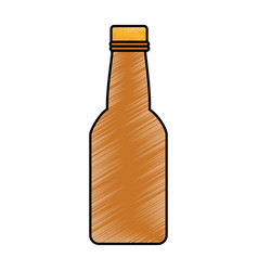 fresh beer in bottle isolated icon vector image vector image
