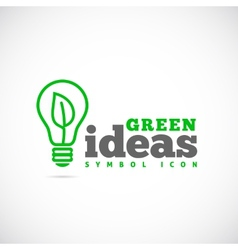 Green ideas concept symbol icon or logo template vector