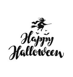 Happy Halloween message background vector image