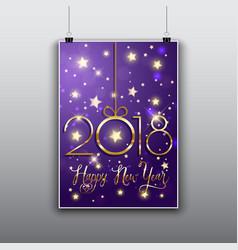 Happy new year flier background vector