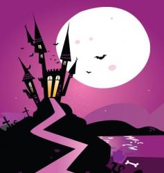 Haunted castle vector