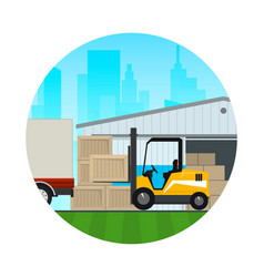 Icon transportation and cargo services vector