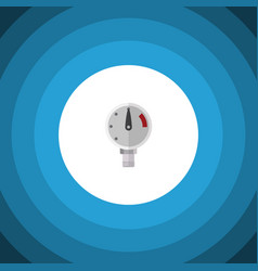 isolated manometer flat icon pressure vector image