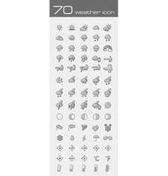 Meteorology Weather icons set vector image