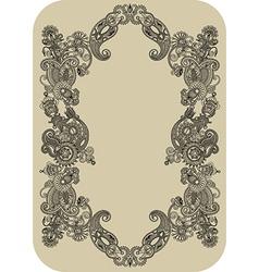 ornate vintage frame vector image vector image