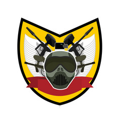 paintball logo military emblem army sign helmet vector image vector image