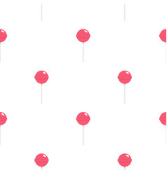 Pink lollipop pattern seamless vector