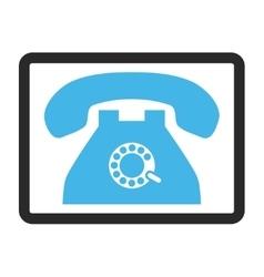 Pulse phone framed icon vector