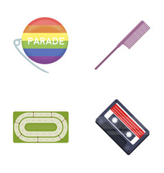 retro business sport and other web icon in vector image