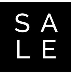 sale design on black background banner for vector image