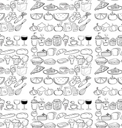 Seamless food vector image
