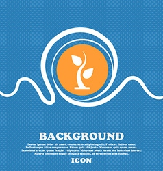 Sprout icon sign blue and white abstract vector