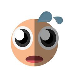 worried emoticon cartoon design vector image