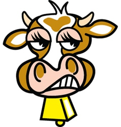 Mad Cow vector image