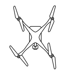 Quad copter drone from top vector