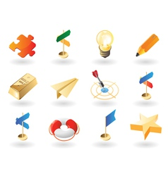 Isometric-style icons for creative business vector